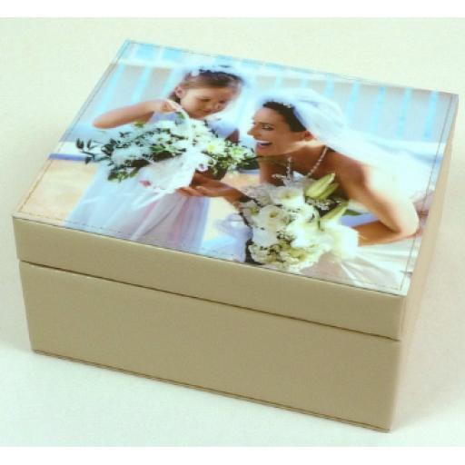 Personalised Leather Keepsake Box