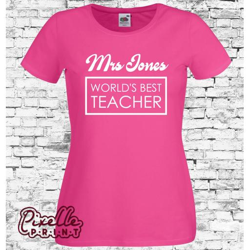 'Mrs World's Best Teacher' Tshirt