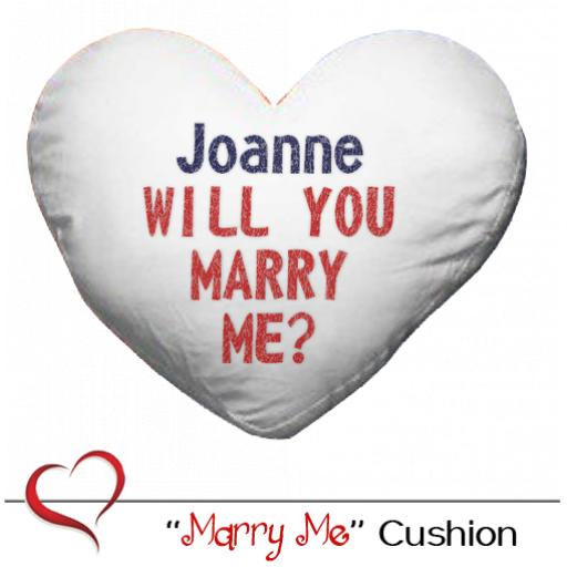 'Marry Me' Heart Cushion & Cover