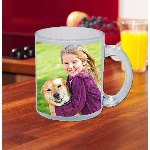 Frosted Glass Photo Mug