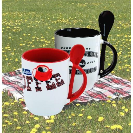 Two-Tone 12oz Mug & Spoon