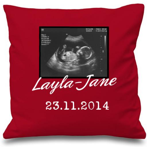 Personalised Baby Scan Cushion Cover