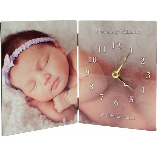 Hinged Photo Panel Clock