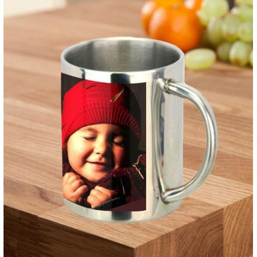 Metal 11oz Photo Mugs
