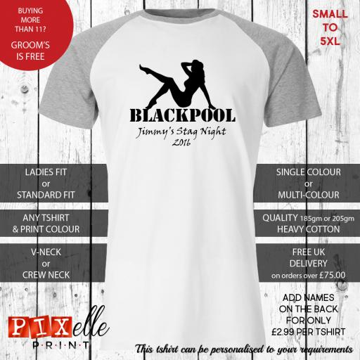 'Sexy Lady' Personalised Stag Night Tshirts