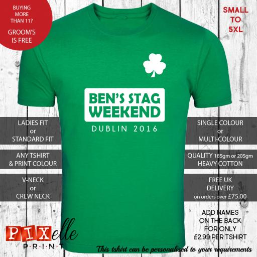 'Football Shirt' Personalised Stag Night Tshirt