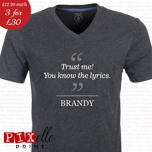 'BRANDY' Funny Drunken Fashion Tshirt