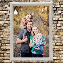 Silver Framed Photo Panel