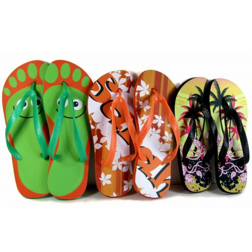 Personalised Adult Photo Flip-Flops