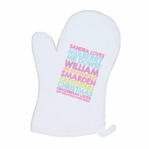 Personalised Oven Mitt