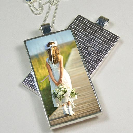 Personalised Silver Metal Photo Pendants