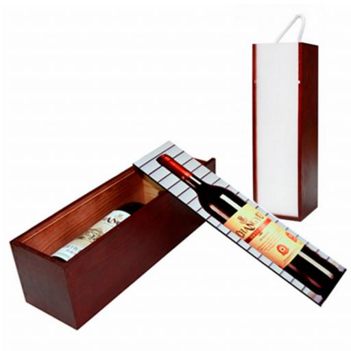 Wooden Wine Bottle Presentation Box