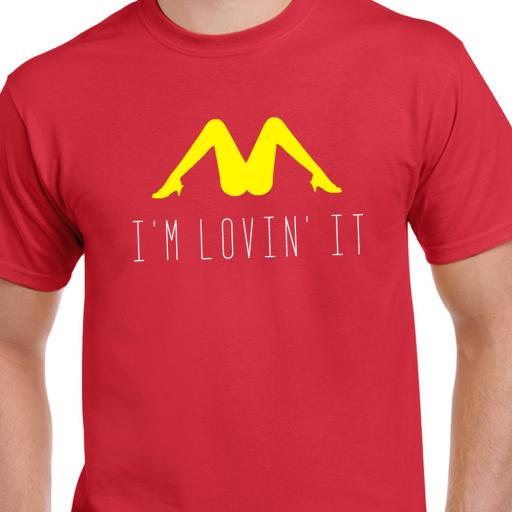 I'm Lovin' It Adult Tshirt