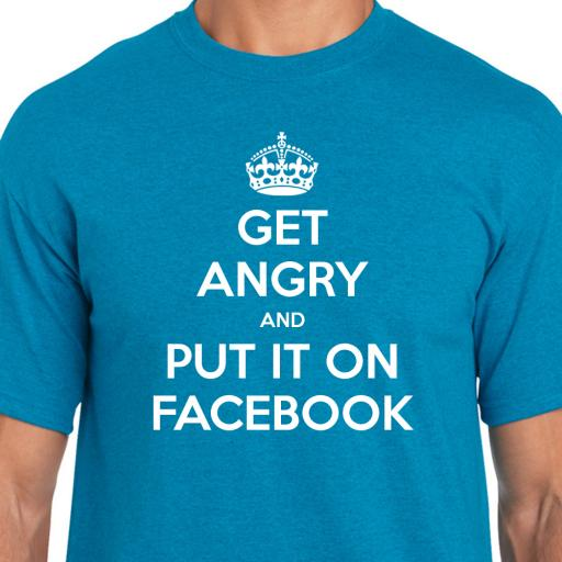 Get Angry and Tell Facebook Tshirt