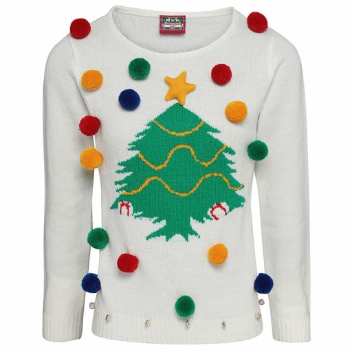Ladies Christmas Tree Jumper