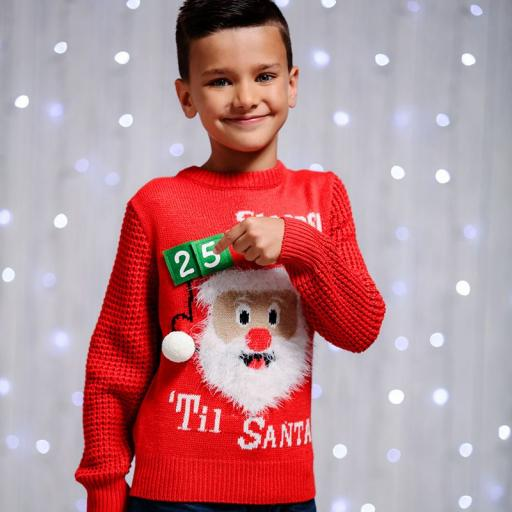 Child's Santa COUNTDOWN Christmas Jumper