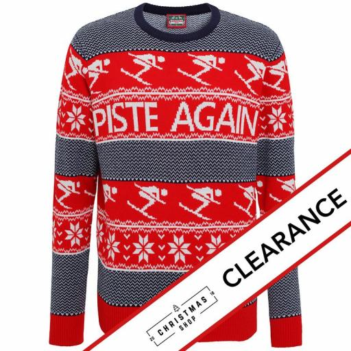 PISTE AGAIN Sports Skiing Christmas Jumper