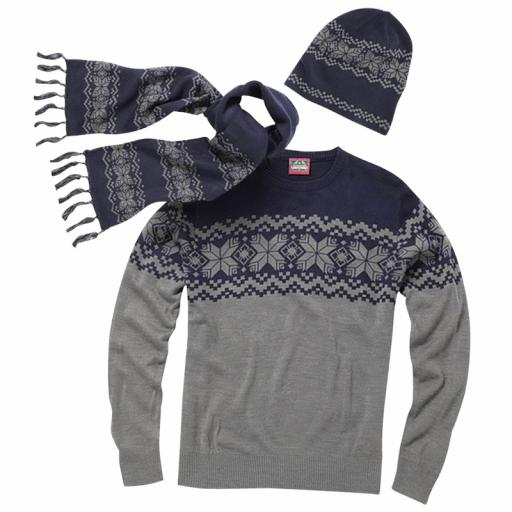 Christmas Sweater, Hat & Scarf Set